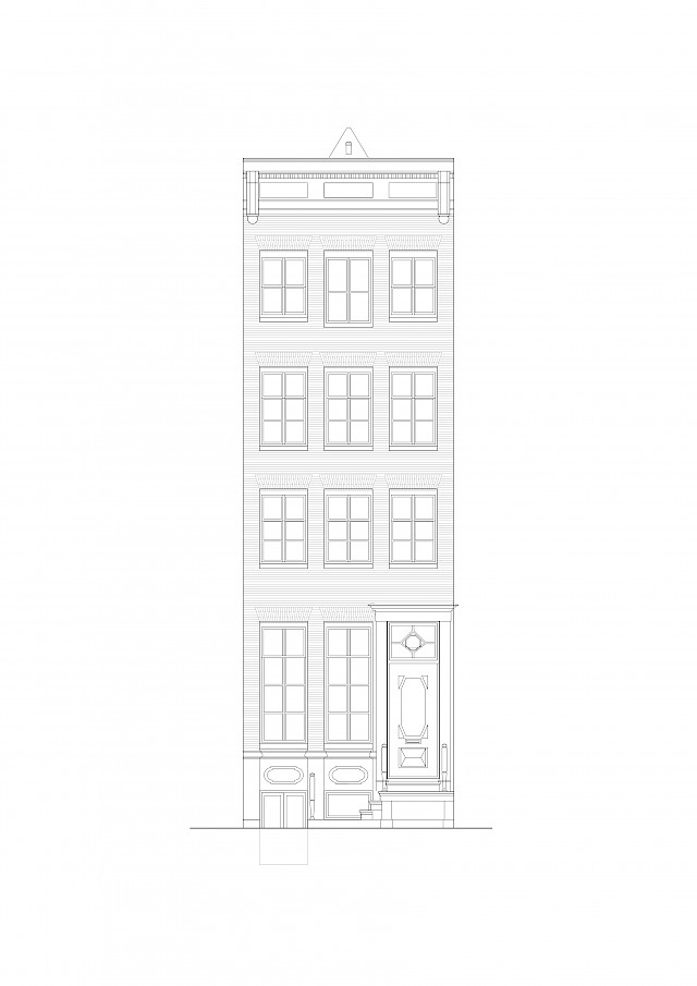 allard architecture • Keizersgracht • Front Elevation