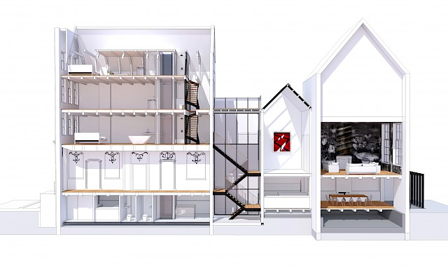 allard architecture • Keizersgracht • 3D Section