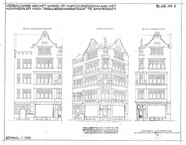 allard architecture • Koningsplein 11 • Archive Drawings