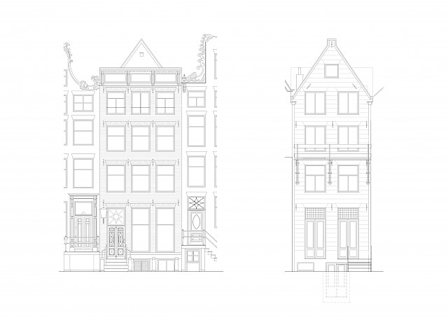 allard architecture • Leliegracht 13 • Elevations