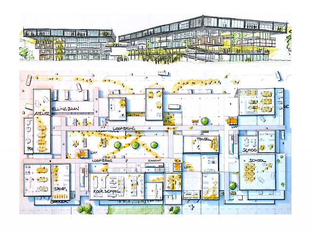 allard architecture • Het Dak • Plan and Elevation