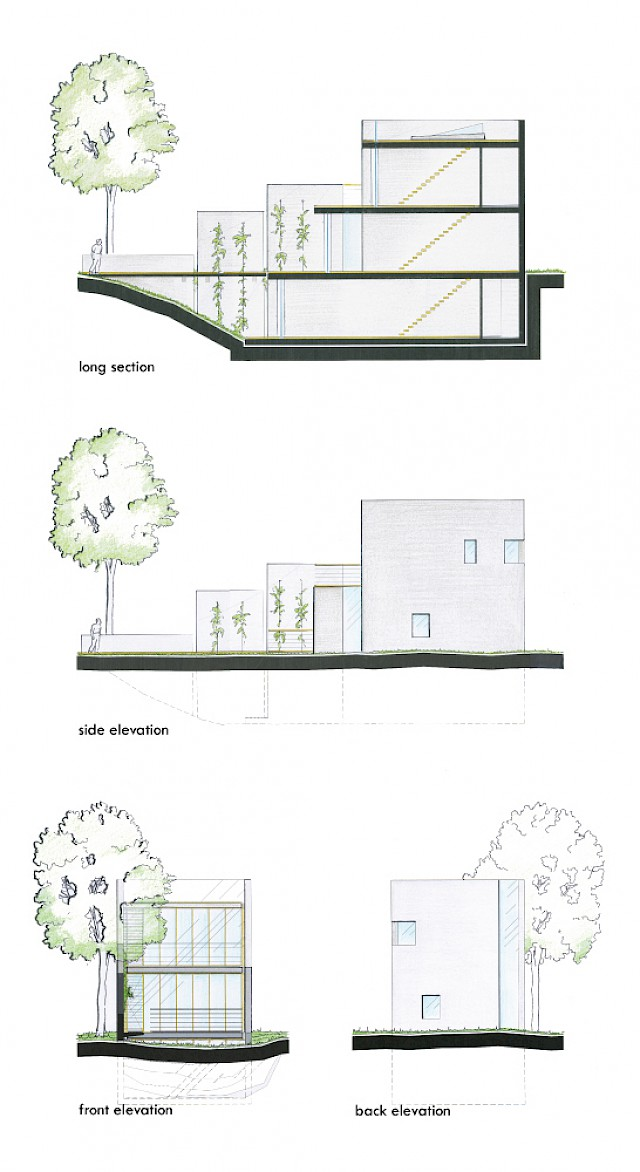 allard architecture • Huis Kainz • Section and Elevations