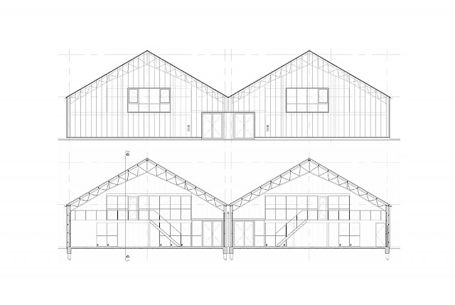 allard architecture • Blauwe Hallen • Elevation and Section