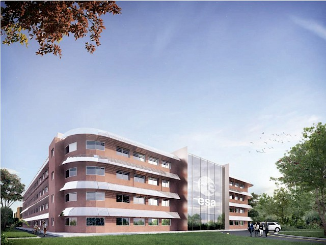 allard architecture • ESA - ESTEC Campus • Erasmus Building Renovation - Exterior Render