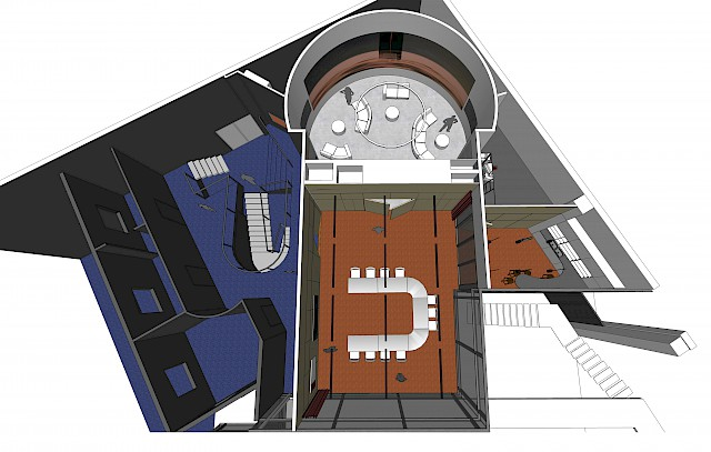 allard architecture • ESA - ESTEC Campus • Moon and Mars Rooms - 3D Plan