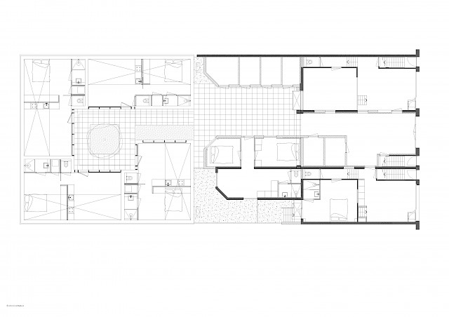 allard architecture • Ruysdaelstraat 34-38 • Ground Floor Plan