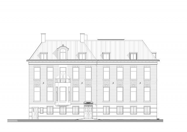 allard architecture • De Ruijterkade 139 • Front Elevation