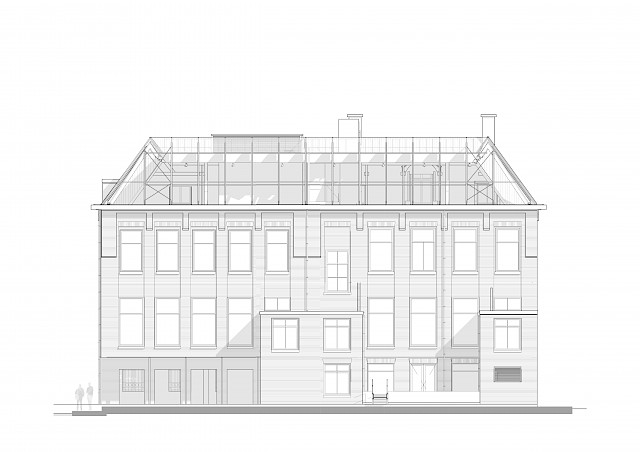 allard architecture • De Ruijterkade 139 • Rear Elevation