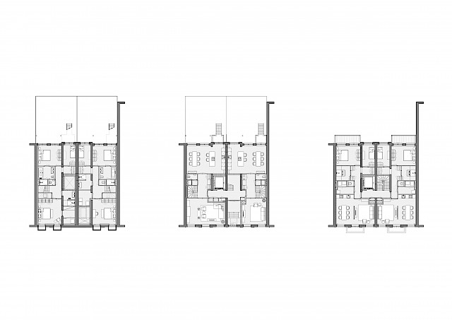 allard architecture • Sarphatistraat • Plans - Lower Ground, Ground, Level 1