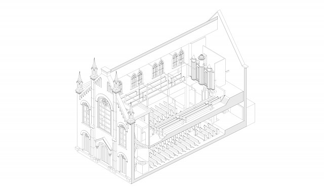 allard architecture • Bloemgracht Kerk • Axonometric of Existing Conditions