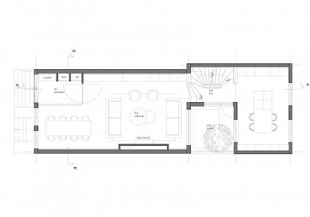 allard architecture • Prinsengracht 9 • Ground Floor Plan