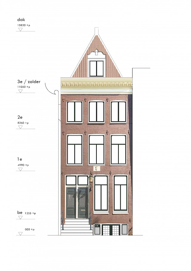 allard architecture • Prinsengracht 9 • Front Elevation