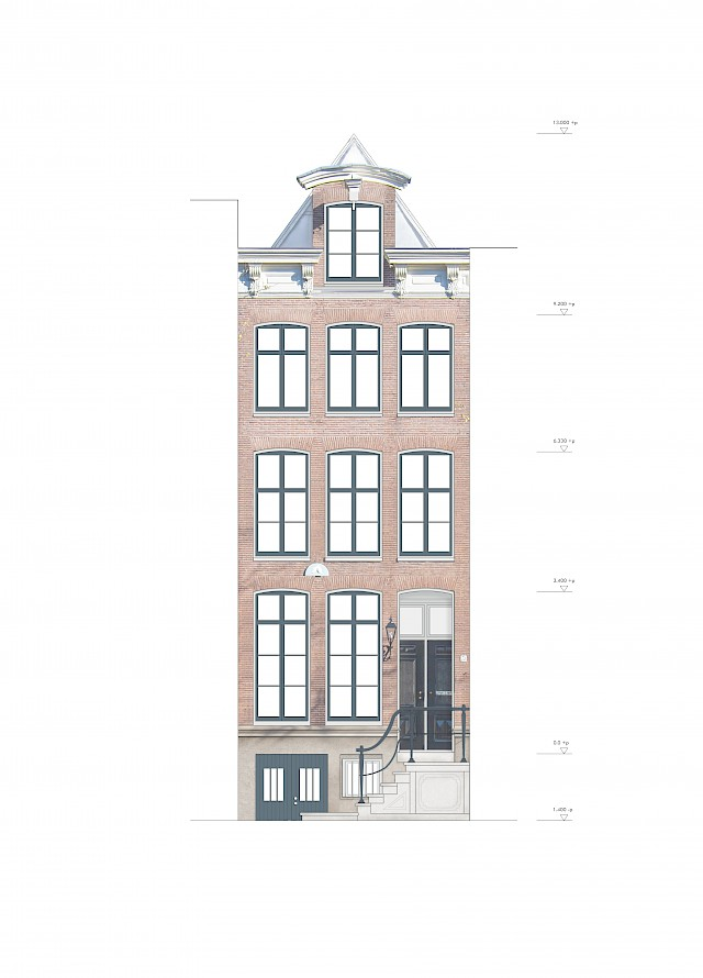 allard architecture • Prinsengracht 73 • Front Elevation - Existing