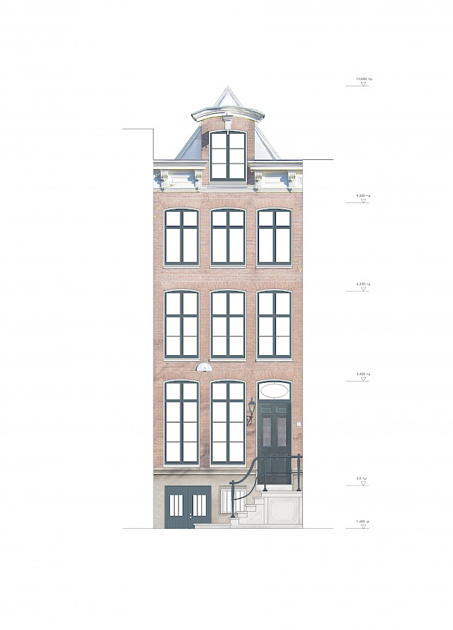 allard architecture • Prinsengracht 73 • Front Elevation - Proposed