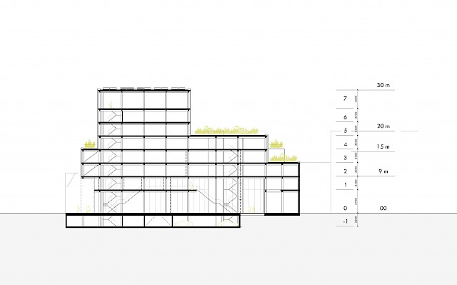 allard architecture • Pand Noord III • Section